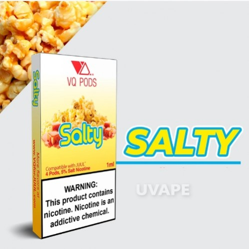 Картриджи на juul VQ Pods Salty 1ml.