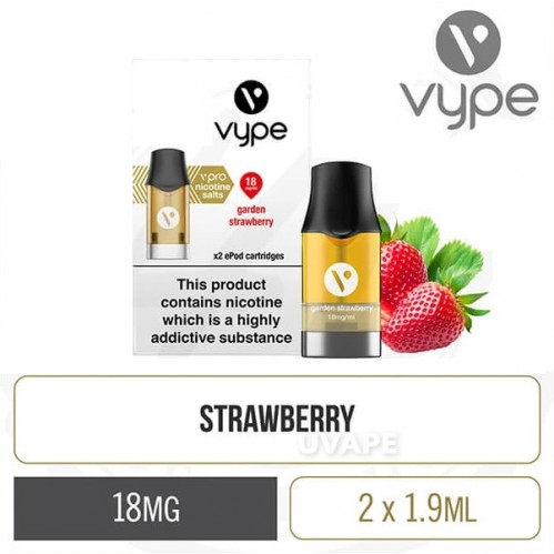Картриджи на Vype ePod Cartridges vPro Garden Strawberry