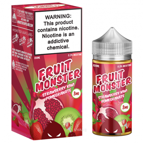 Премиум жидкость Fruit Monster - Strawberry Kiwi Pomgranate 100 мл.